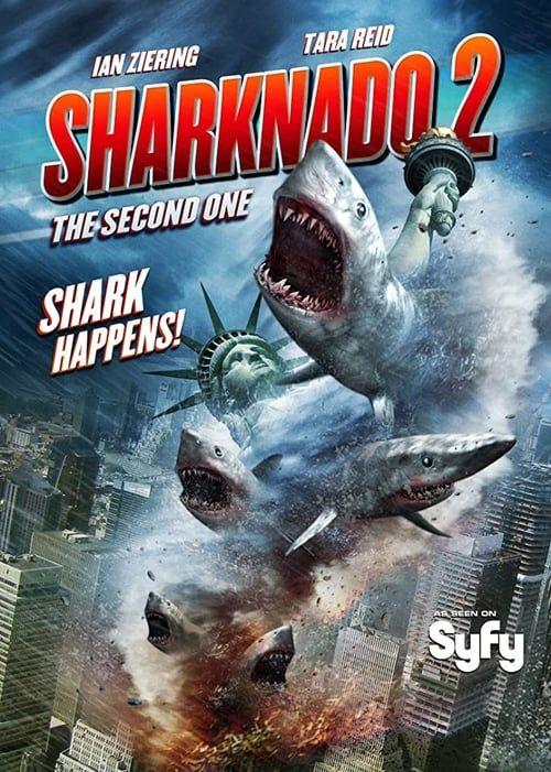 Key visual of Sharknado 2: The Second One