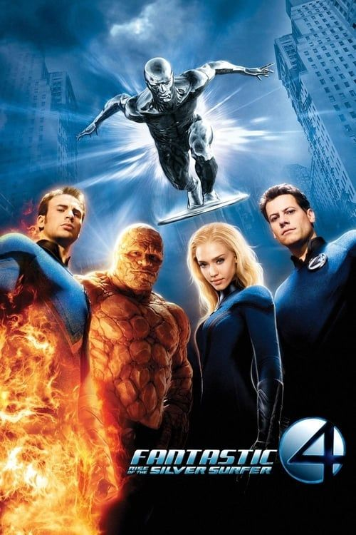 Key visual of Fantastic Four: Rise of the Silver Surfer