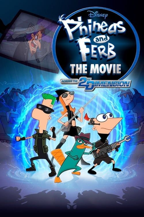Key visual of Phineas and Ferb: The Movie: Across the 2nd Dimension