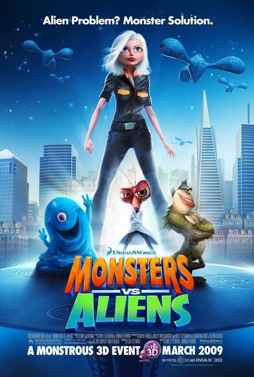 Key visual ofMonsters vs Aliens